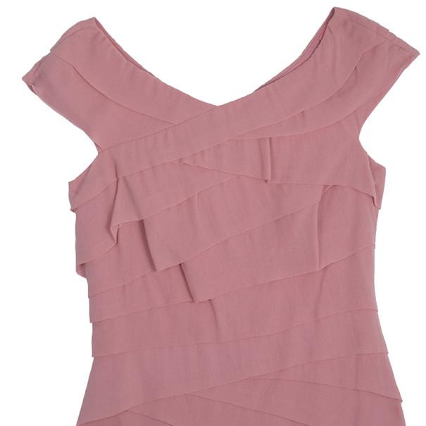 Tadashi Shoji Ruffled Dress M