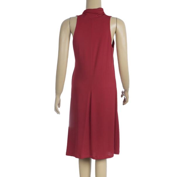 Max Mara Gathered Buckle Dress M