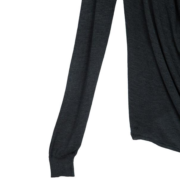 Balenciaga Knit Long Sleeve V-neck Top S