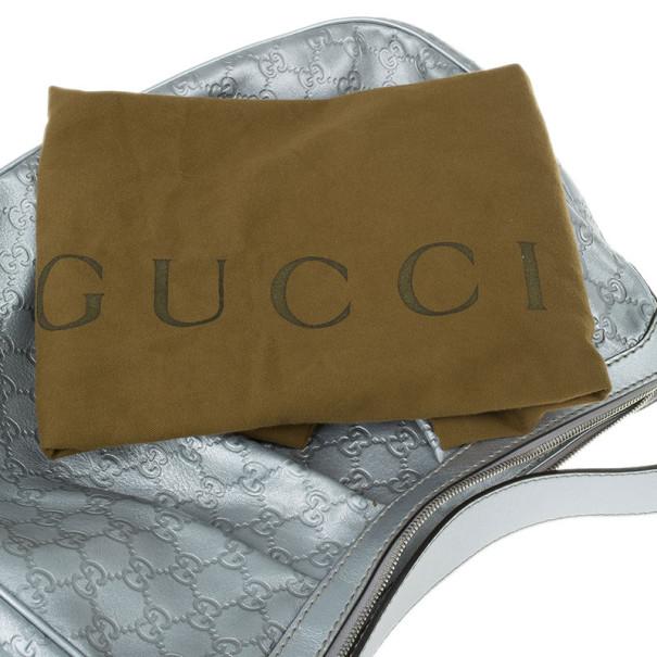 Gucci Silver Guccissima Sukey Medium Tote