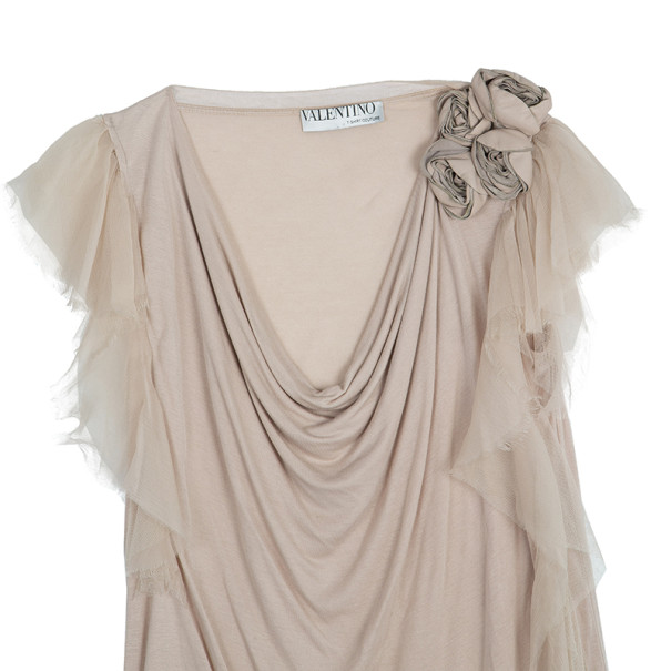 Valentino Flower Embellished Top S
