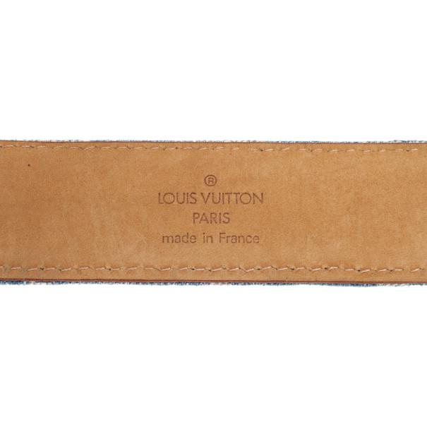 Louis Vuitton Denim Monogram Belt 90CM