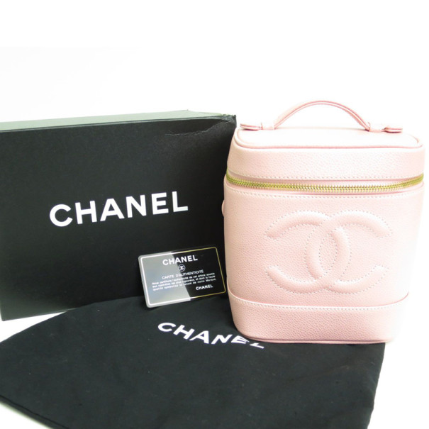 Chanel Pink Caviar Vanity Bag