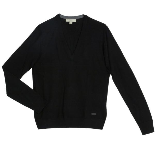 Burberry Men's Knit V-neck Sweater S