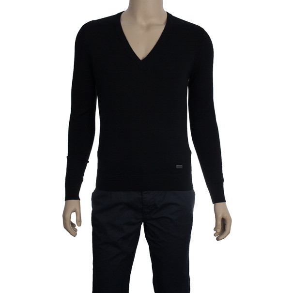 Burberry Men's Knit V-neck Sweater S