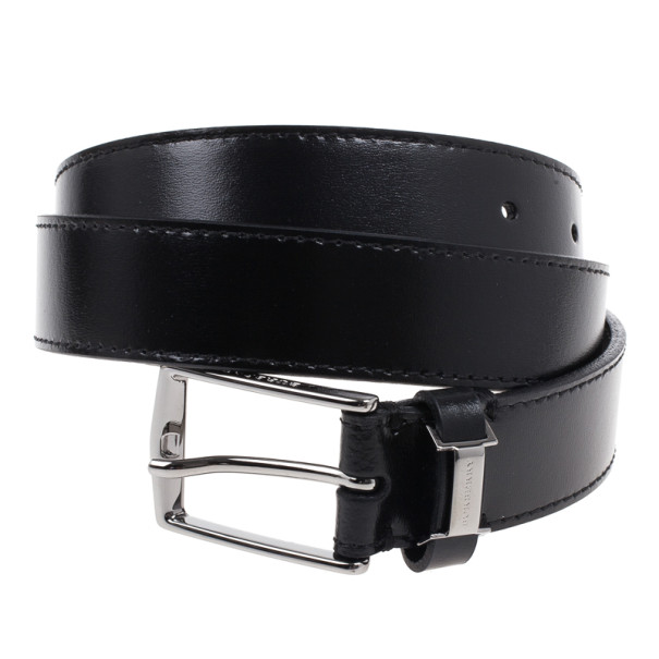 Burberry Black Leather Belt 90CM