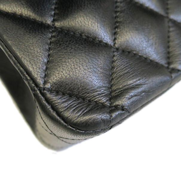 Chanel Black Lambskin Medium Classic Single Flap Shoulder Bag