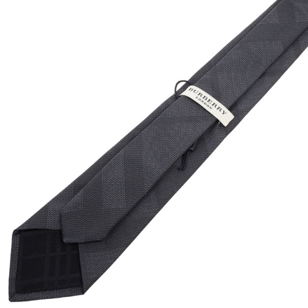 Burberry Grey Check Tie