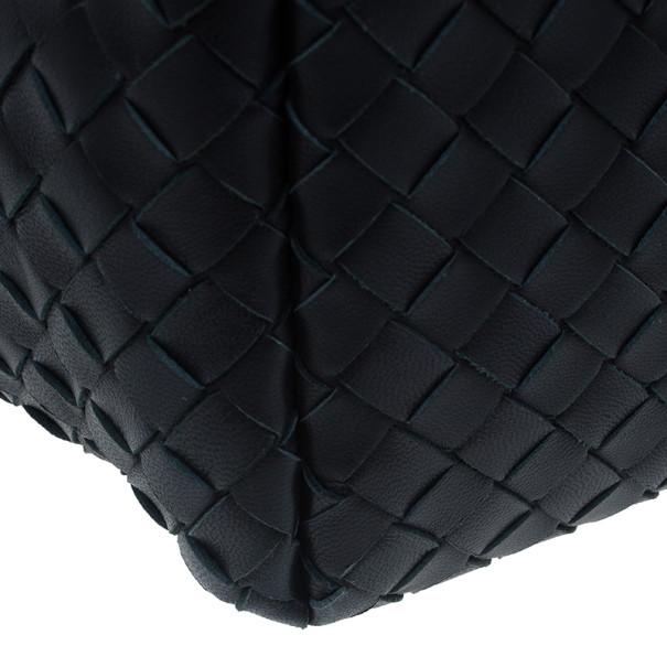 Bottega Veneta Black Nappa Mini Intrecciato Shoulder Bag