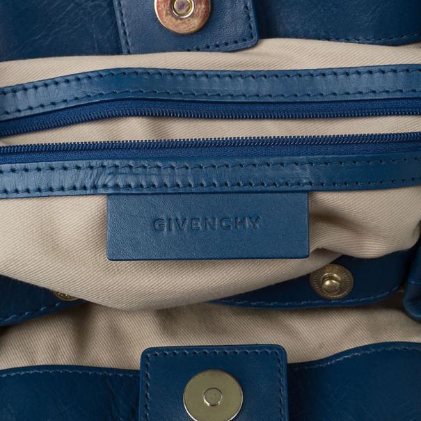 Givenchy Blue Leather Medium Bugatti Bag