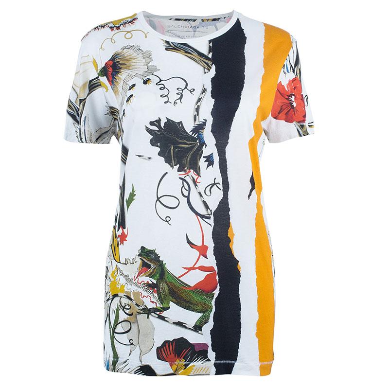 Balenciaga Multicolor Printed T-Shirt L
