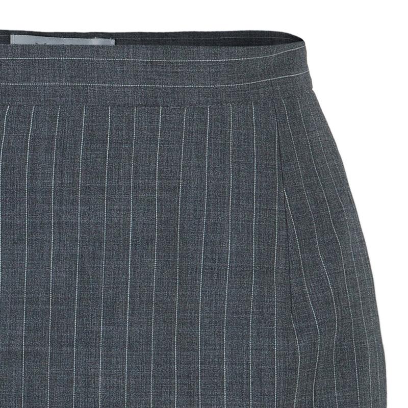 Max Mara Grey Pinstripe Pencil Skirt S