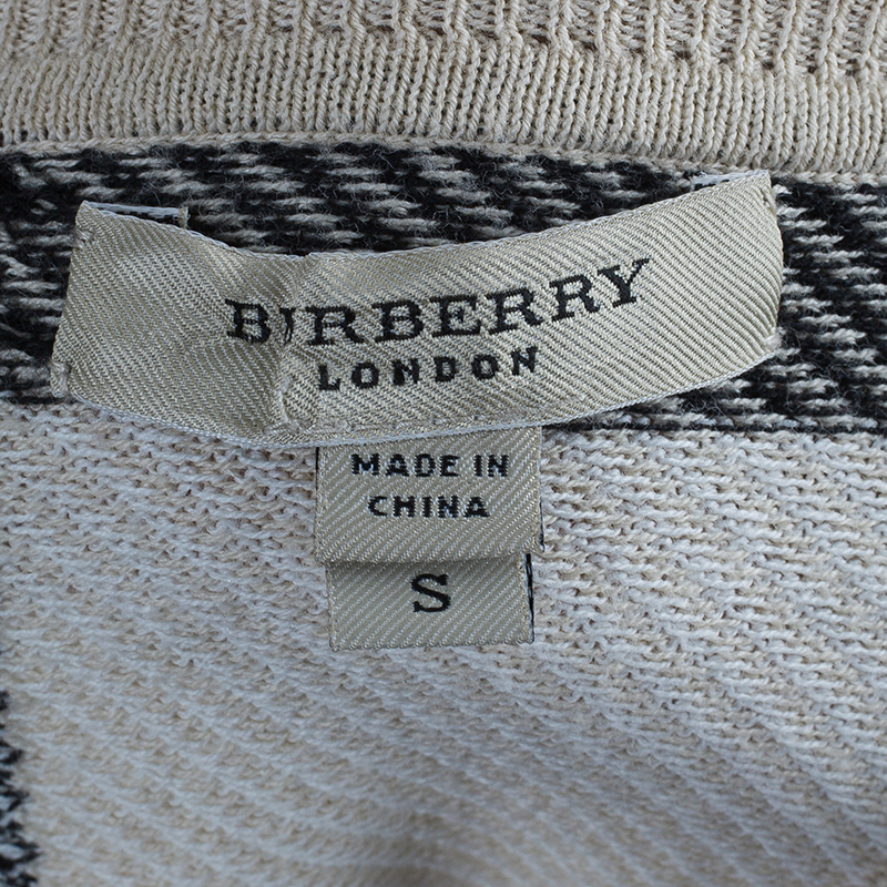 Burberry Novacheck Knit Cardigan S