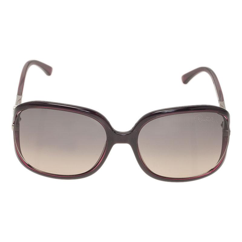 Roberto Cavalli Purple Edera Square Sunglasses