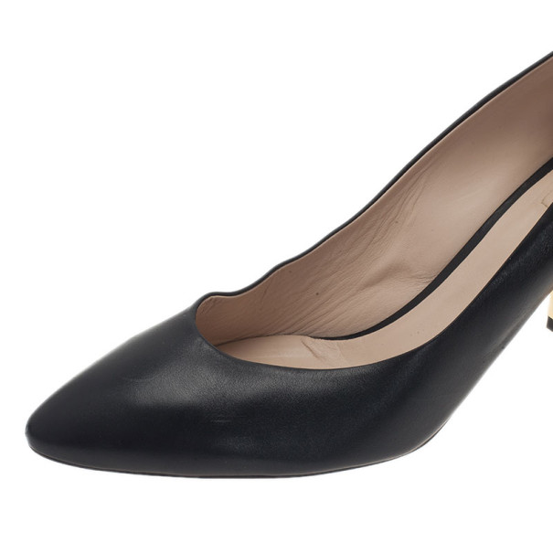 Chloe Black Leather Beckie Pumps Size 42