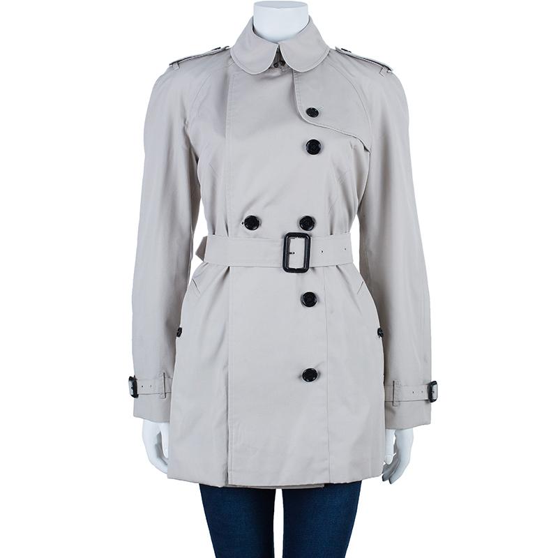 Burberry Beige Twill Heritage Trench Coat M