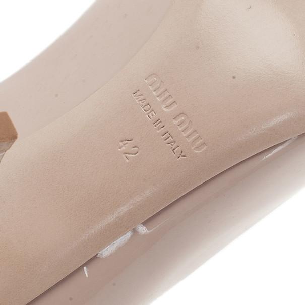 Miu Miu Nude Patent Mary Jane Pumps Size 42