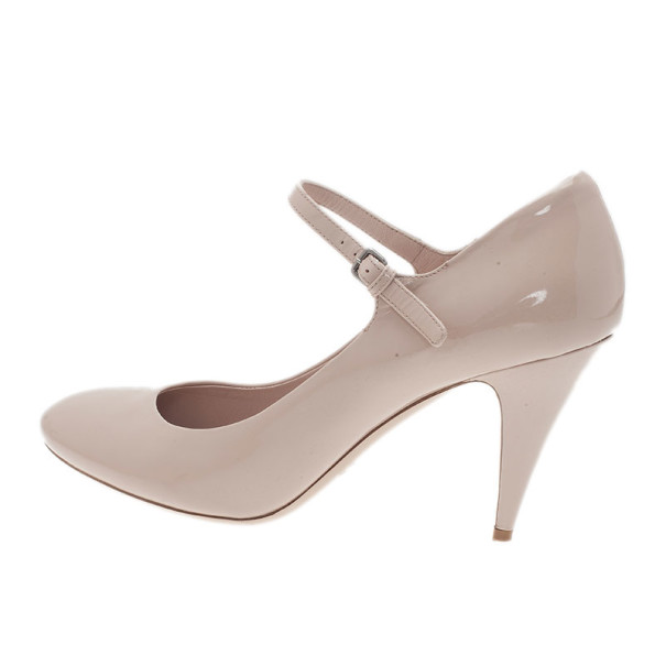 Miu Miu Beige Patent Mary Jane Pumps Size 42