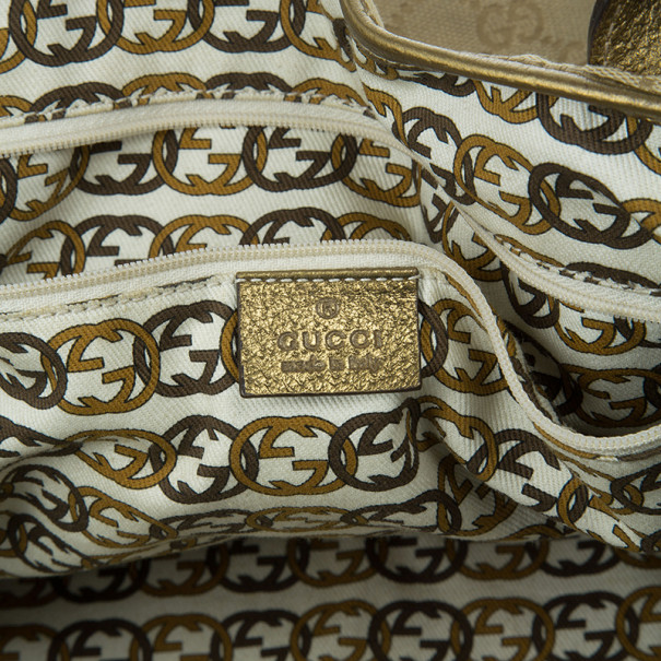 Gucci Metallic Monogram Large Princy Tote