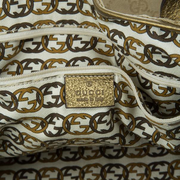Gucci Metallic Monogram Large Princy Tote