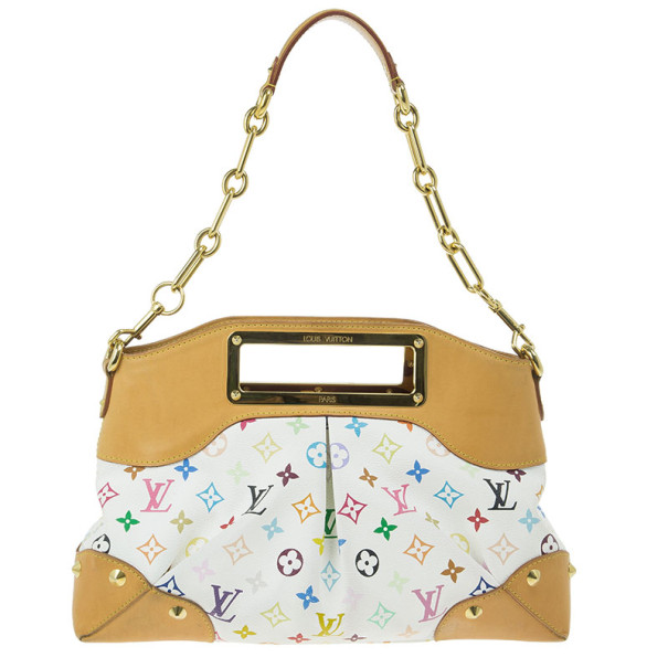 Louis Vuitton White Monogram Multicolor Judy