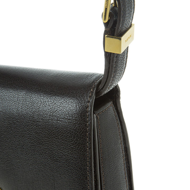 Tom Ford Brown Leather Large Natalia Bag