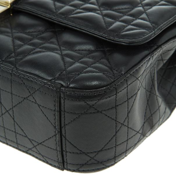 Dior Black Leather Medium Miss Dior