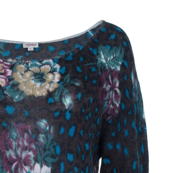 Kenzo Floral Knit Long Top S