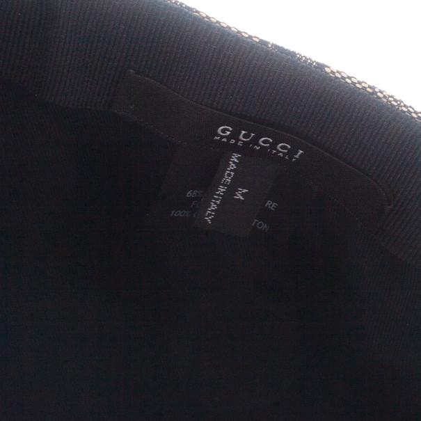 Gucci Navy GG Canvas Web Detail Baseball Cap Size M