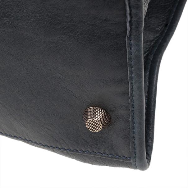 Balenciaga Charcoal Leather Work Tote
