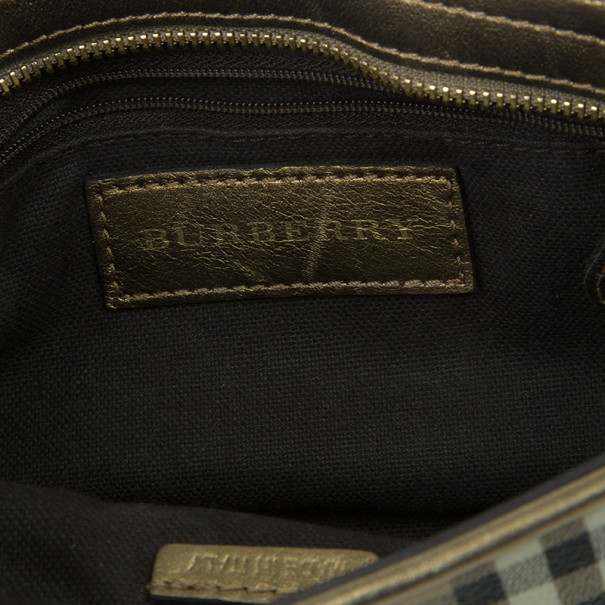 Burberry Haymarket Check Small Shoulder Bag