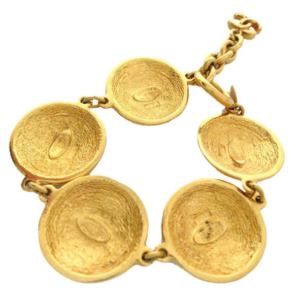 Chanel Coco Medals Vintage Gold-Plated Bracelet 25CM