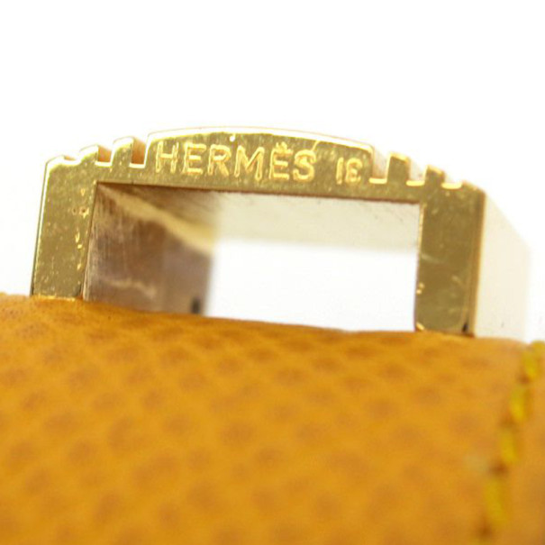 Hermes Artemis Yellow Courchevel Bracelet 16CM