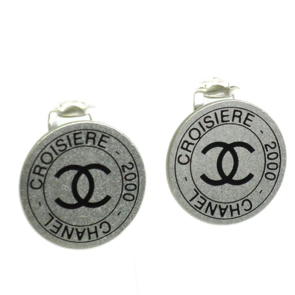 Chanel Croiserie 2000 Silver-Plated Earrings