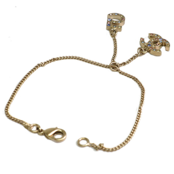 Chanel CC Logo No. 5 Gold-Plated Bracelet