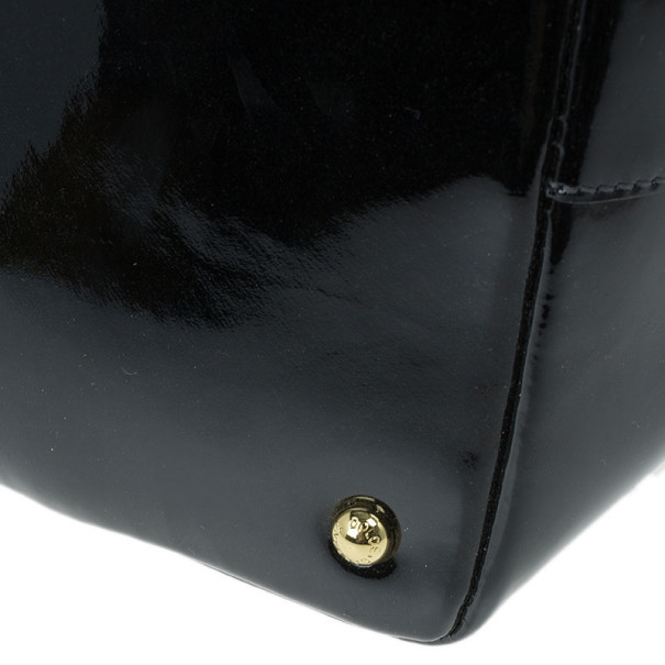 Dolce and Gabbana Black Patent Leather Miss Escape Tote