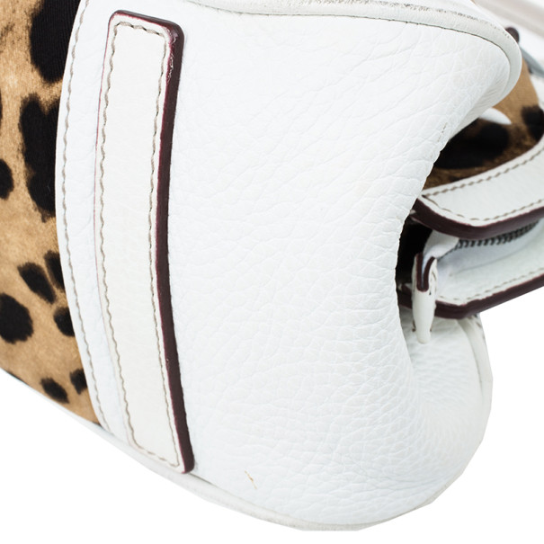 Dolce and Gabbana Animal Print Canvas Satchel