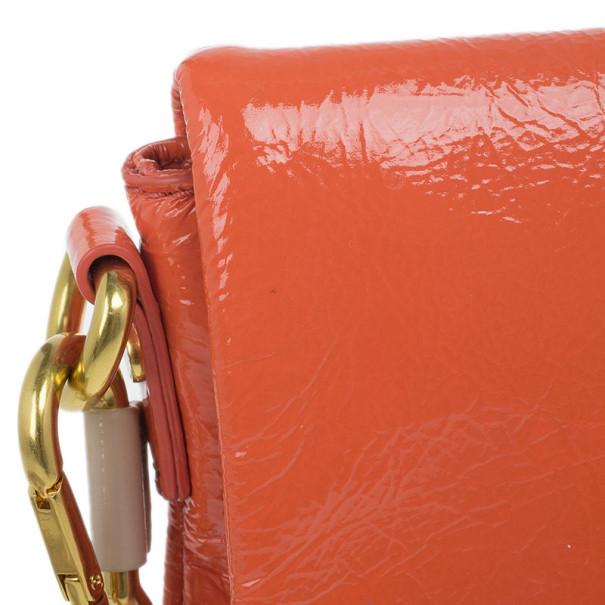 Marc by Marc Jacobs Orange Glazed Leather Percy Crossbody