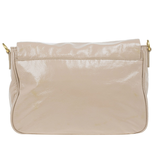 Marc by Marc Jacobs Taupe Glazed Leather Lea Crossbody