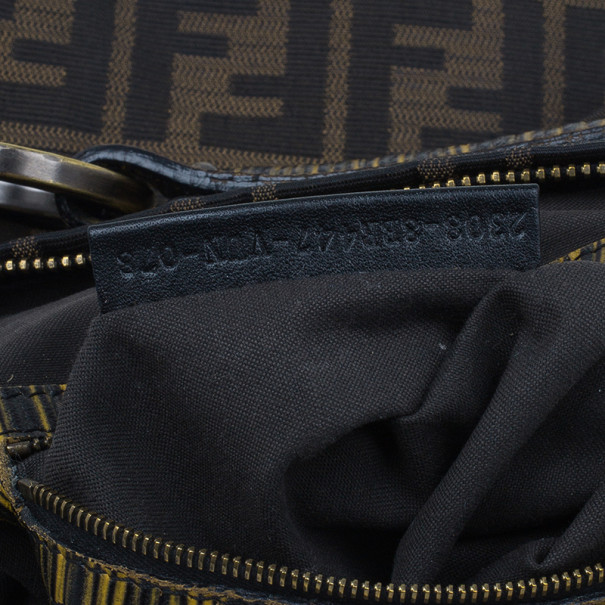 Fendi Brown Zucca Canvas Chef Hobo
