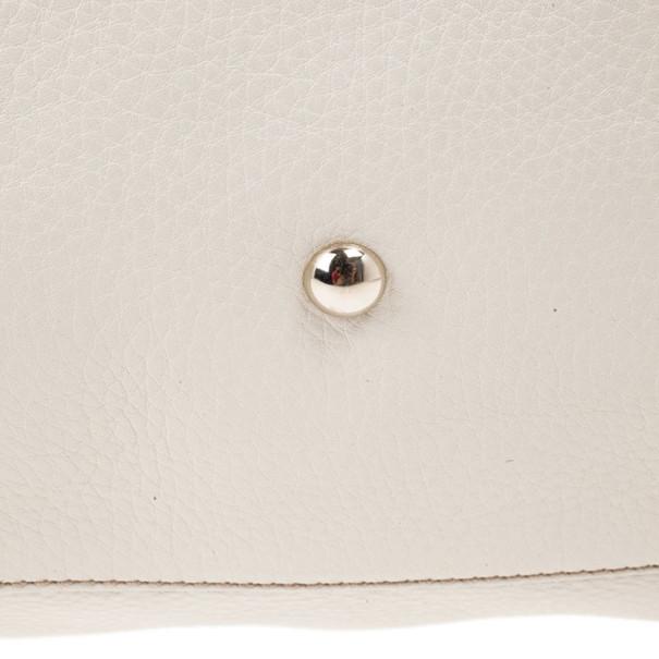 Gucci White Leather Medium Soho Boston Bag