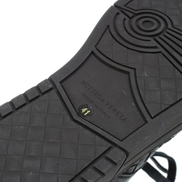 Bottega Veneta Black Intrecciato Leather Speedster Sneakers Size 41