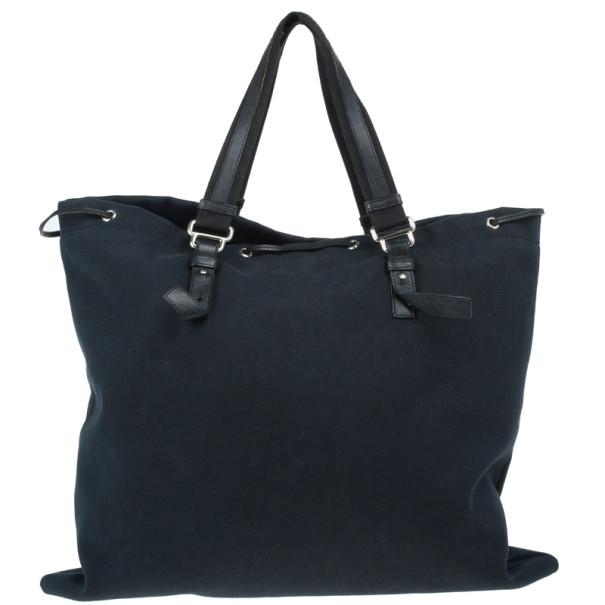 Saint Laurent Paris Black Canvas Kahala Tote
