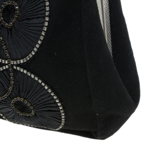 Chloe Black Embroidered Clutch