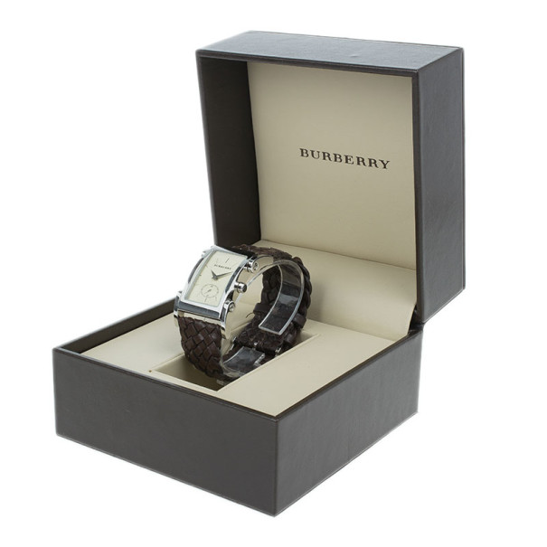 Burberry Cream Stainless Steel BU1105 Unisex Wristwatch 26MM