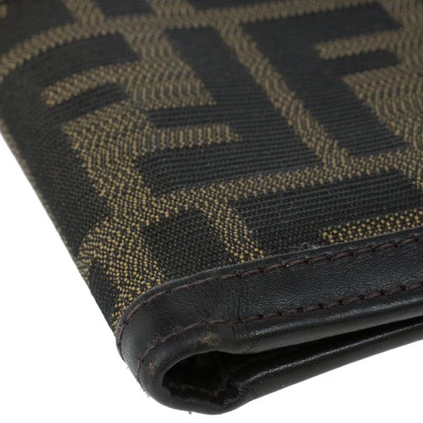 Fendi Tobacco Spalmati Zucca Canvas Bi-Fold Wallet