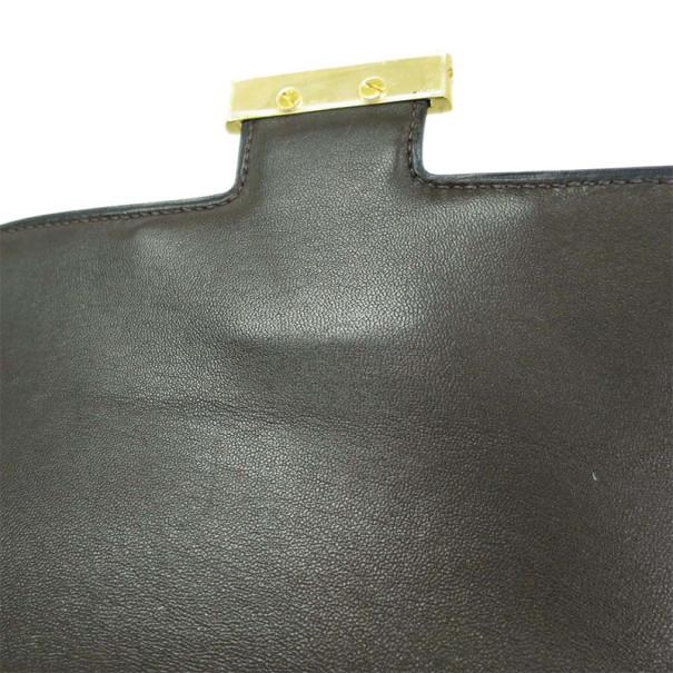 Hermes Brown Constance Box Shoulder Bag