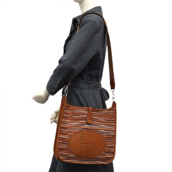 Hermes Brown Vibrato Evelyne 1 Shoulder Bag PM