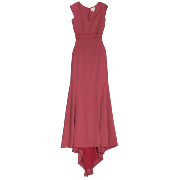 Zac Posen Satin Trimmed Crepe Gown S
