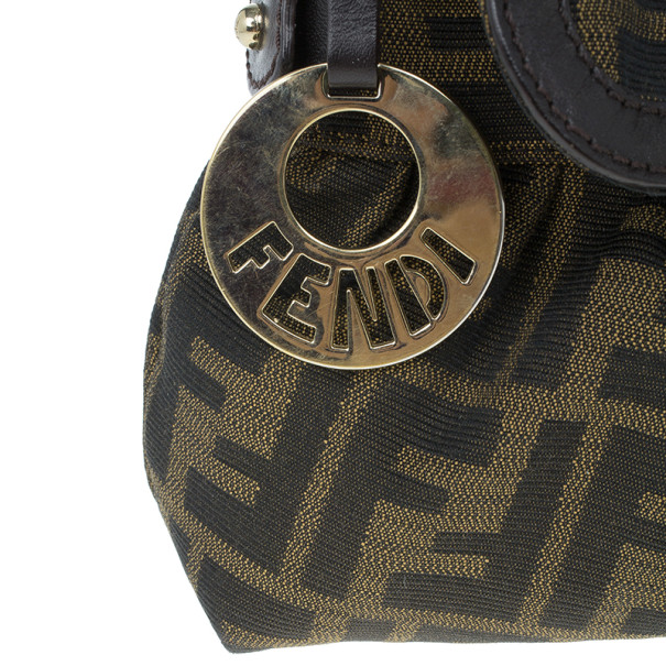 Fendi Brown Zucca Canvas Chef Shoulder Bag